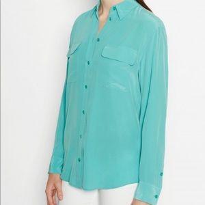 Equipment mint silk blouse size XS